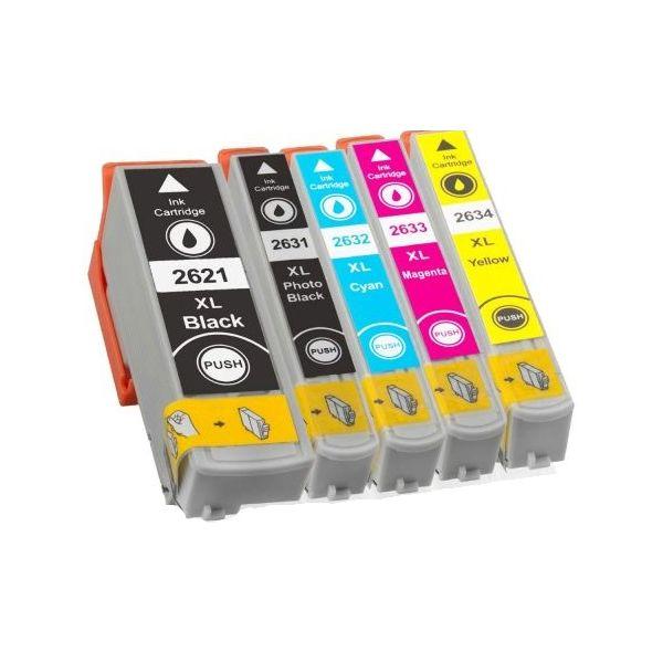 EPSON T2636 - č.26XL - Multipack 5ks - kompatibilní