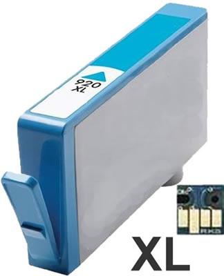 HP 920XL Cyan - CD972AE - modrý - včetně čipu - kompatibilní