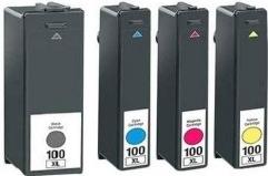 Multipack 4ks Lexmark 100XL Bk+CMY - 14N1921E - kompatibilní
