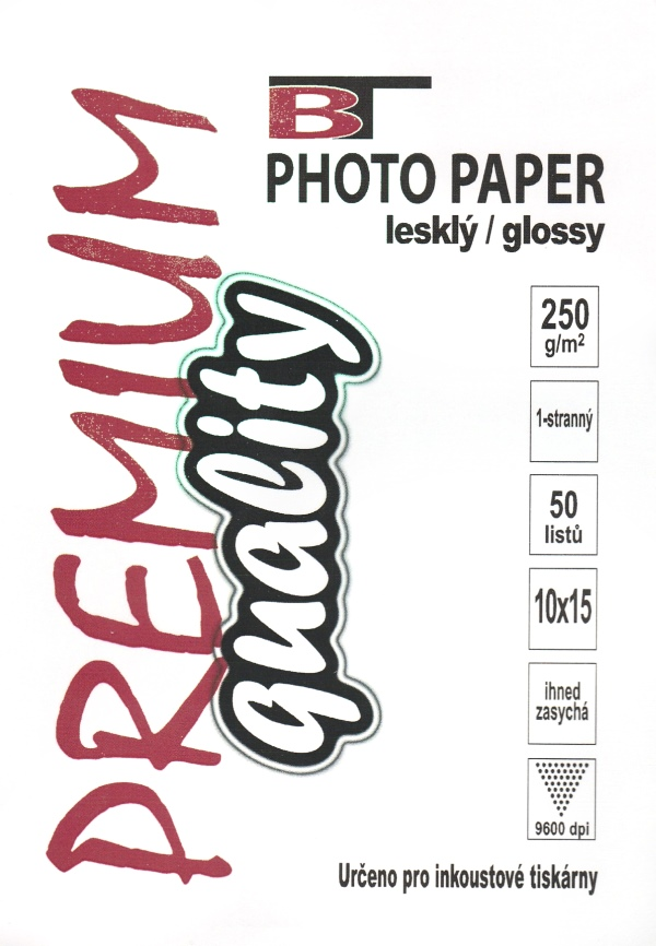 Fotopapír - lesklý, 10x15cm, 250 g/m2, 50 listů