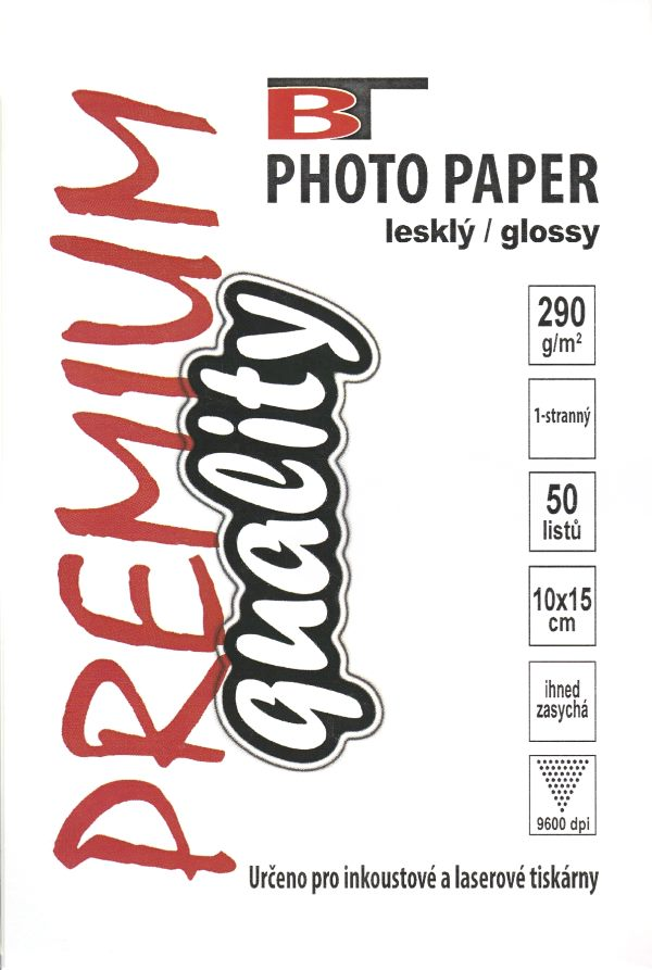 Fotopapír - lesklý, 10x15cm, 290 g/m2, 50 listů