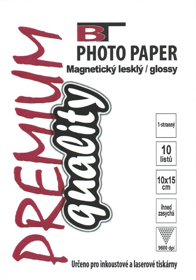 Magnetický fotopapír - lesklý, 10x15cm, 10 listů