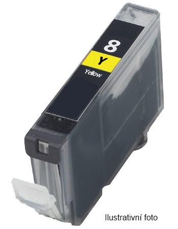 Canon CLI-8 Y - kompatibilní náplň pro tiskárny Canon Pixma iP3300, iP3500, iP4200, iP4300, iP4500, iP5100, iP5200, iP5300, iX4000, MP500, MP510, MP530, MP600, MP600R, MP610, MP800, MP800R, MP810, MP830, MP950, MP960, MP970, MX700, MX850