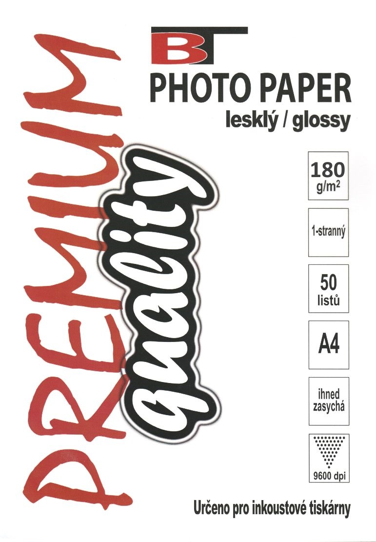 Fotopapír - lesklý, A4, 180 g/m2, 50 listů