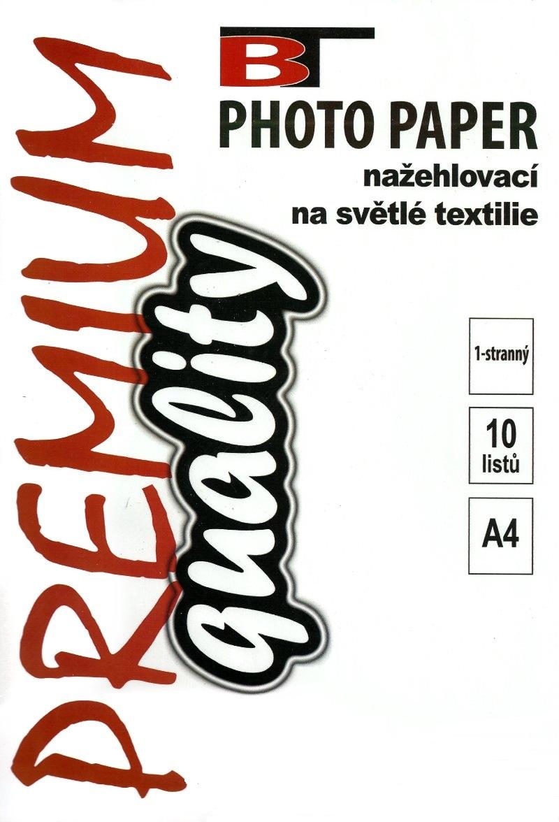 Fotopapír na textil - lesklý, A4, 10 listů
