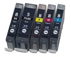 Multipack 5ks Canon CLI-8 / PGI-5 - kompatibilní - včetně čipu