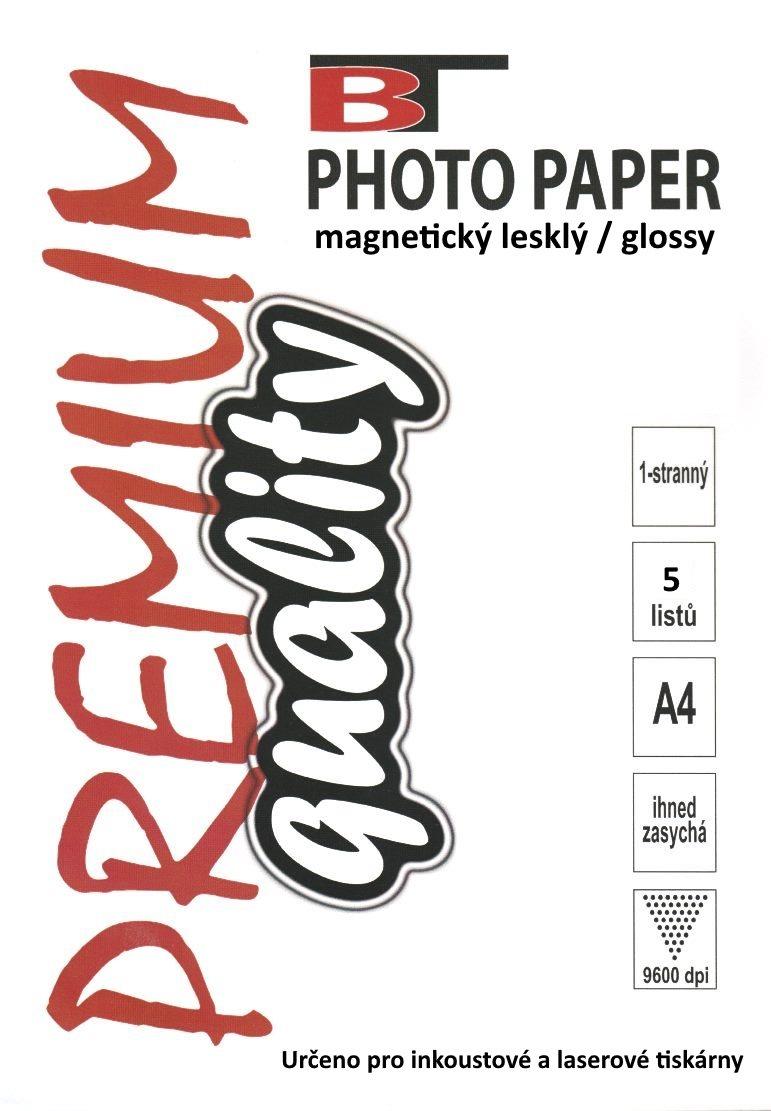 Magnetický fotopapír - lesklý, A4, 5 listů