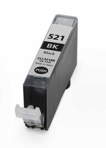 Canon CLI-521Bk - kompatibilní - včetně čipu