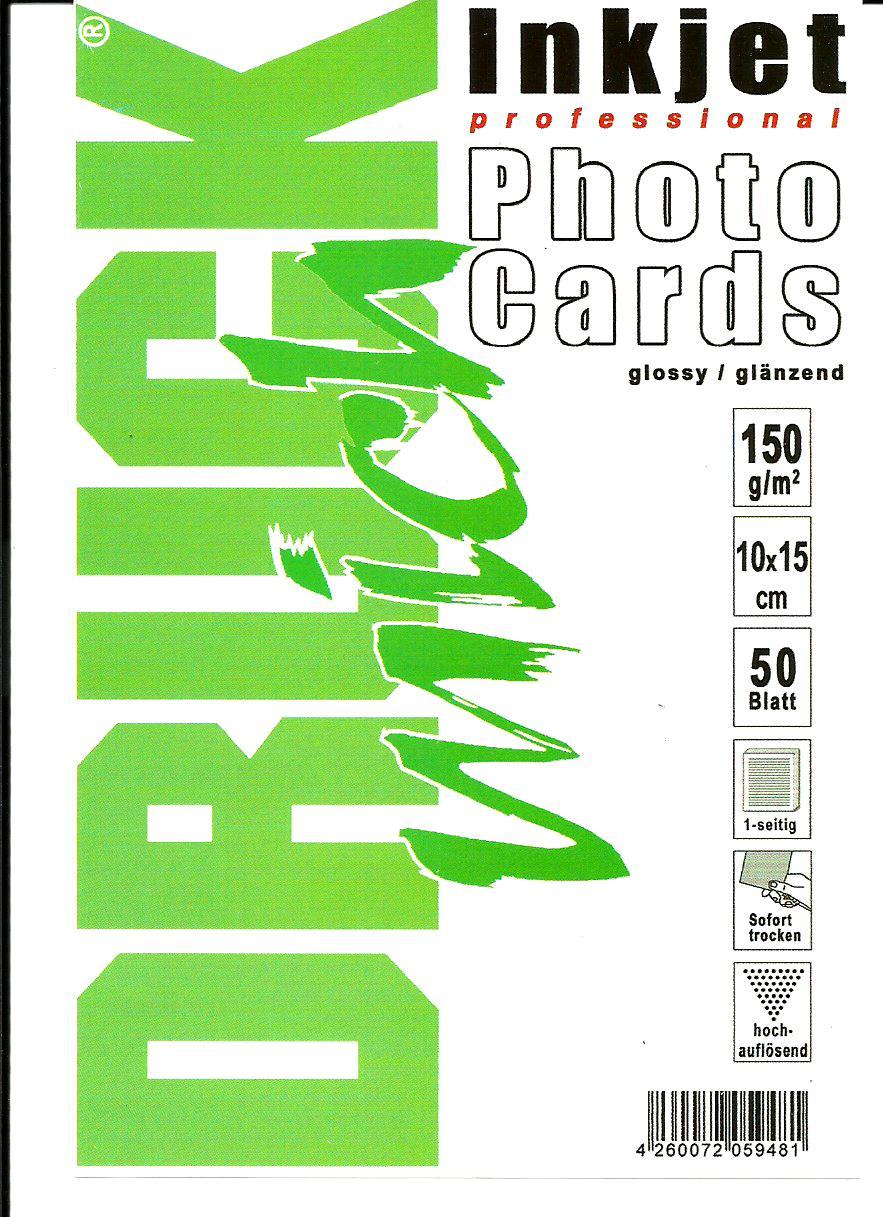 Fotopapír - lesklý, 10x15cm, 150 g/m2, 50 listů