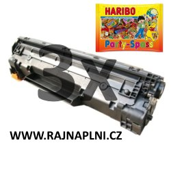 3x HP CE285A - 85A - kompatibilní toner + HARIBO Party-Spass 425g