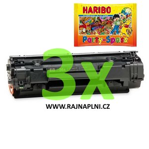 3x HP CB436A - 36A - kompatibilní toner + HARIBO Party-Spass 425g