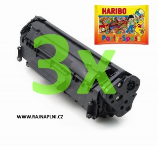 3x HP Q2612A - 12A - kompatibilní toner + HARIBO Party-Spass 425g