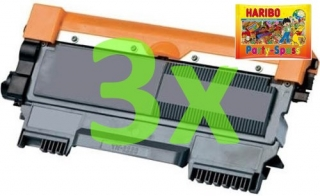 3x Brother TN-2320 - kompatibilní toner + HARIBO Party-Spass 425g