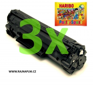 3x HP CB435A - 35A - kompatibilní toner + HARIBO Party-Spass 425g
